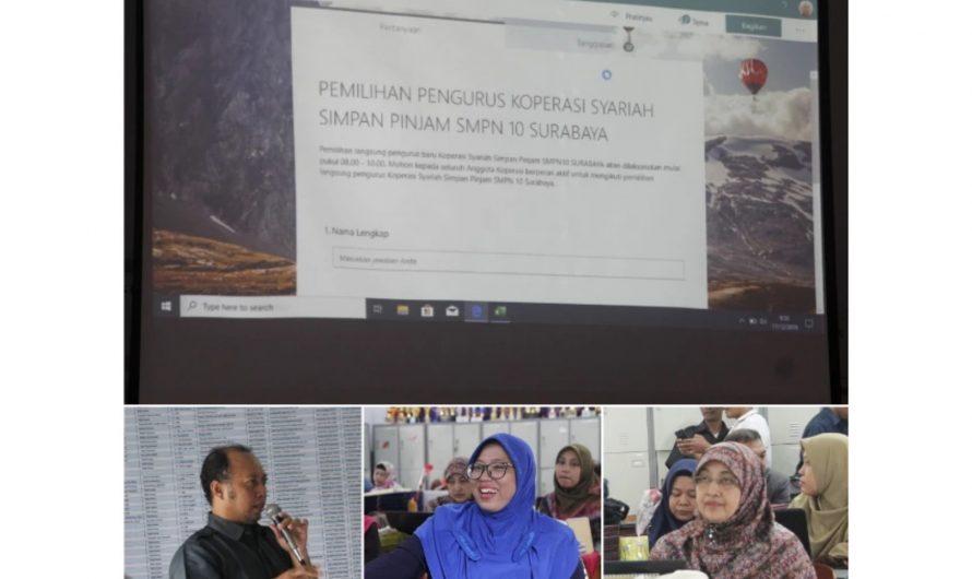 Selamat Bertugas, Pengurus Koperasi Syari'ah SMPN 10 Surabaya