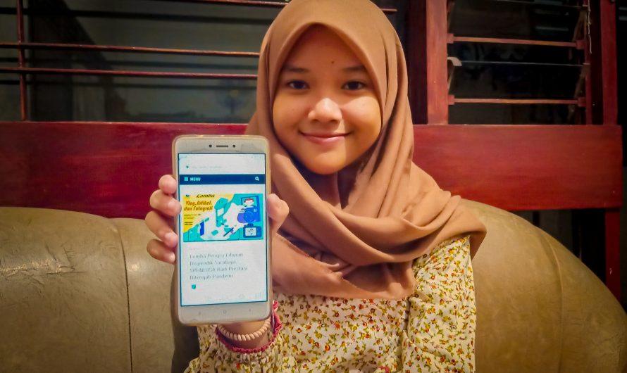 Tisya Novalita: Serunya Belajar di Rumah Dengan Aplikasi Daring