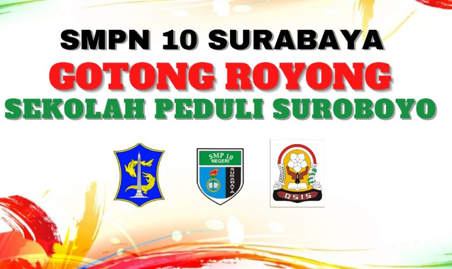 "SMPN 10 Surabaya Serahkan Hasil Sumbangan Gotong Royong ""Sekolah Peduli Suroboyo"" ke Panitia"